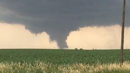 Tornado Forms in Fields Near Prairiebug