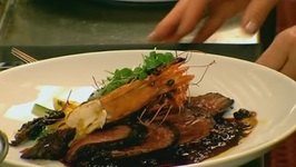 Chef Dave Banks-Seared Onglet With Madagascar Salt Prawns And Wine Flight Vignette