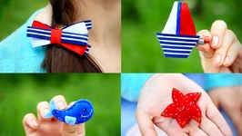 DIY Small Hair Clips for Girls