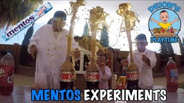 MENTOS KIDS EXPERIMENTS  7 SODA FLAVORS  DEION'S PLAYTIME