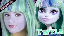 Monster High Twyla Doll Costume Makeup Tutorial for Halloween or Cosplay
