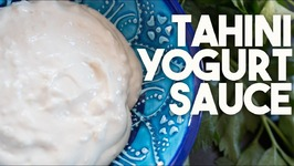 TAHINI Yogurt Sauce - How To Make Tahina Sauce With YOGURT And GARLIC