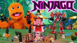Lego Nijago Toys Fire Mech Giant Robot 70615 - Lighthouse Siege 70594 - Green NRG Dragon 70593