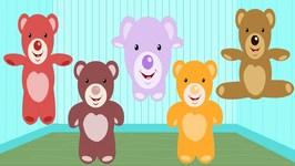 Five Little Teddy Bears - Nursery Rhymes For Children - Kids Tv Nursery Rhymes For Toddlers