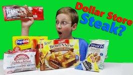 Dollar Store Steak   And Breakfast  Cinnabon  Jamaican Beef  Popsicles  Oreo Pie Taste Test