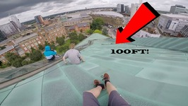 SLIDING DOWN 100FT ROOFTOP