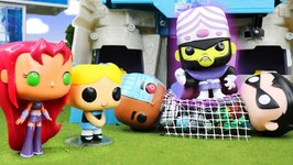 Teen Titans Go And Powerpuff Girls Vs Mojo Jojo A Ttg Vs Ppg Funko Pop Parody