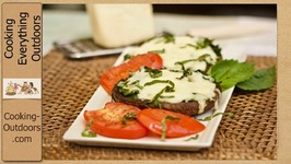 Grilled Baja Style Cheese Topped Portobello Mushrooms