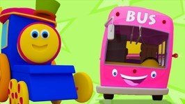 Wheels On The Bus Go Round And Round - Songs For Childrens - Baby Song By Bob The Train Part Third