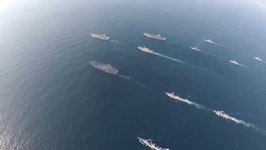 Aerial Footage Said to Show 'Rare' Three-Air-Carrier Exercise in Western Pacific