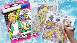 Coloring Barbie Activity Book Imagine Ink Magic Marker
