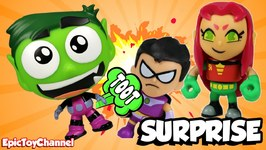 Surprise Teen Titans Go Toys Super Tooter Beast Boy And Robin Starfire Raven Hero Surprise Toys