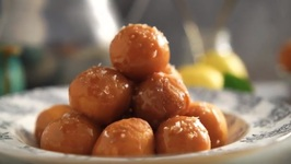 Idaho Potato Doughnut Holes With Salted Caramel Glaze