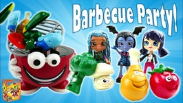 Vampirina Uma And Marinette Dolls Play Barbecue Party Game With Surprises