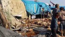 Child Killed During Shelling of Displaced-Persons Camp on Turkish-Syrian Border