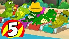 Five Crocodiles Went Swimming One Day - Nursery Rhymes - Baby Songs - Kids Tv Nursery Rhymes