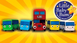 Little Baby Bum - Ten Little Buses - From Wheels On The Bus - Nursery Rhymes for Babies