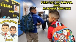 FIRST DAY OF SCHOOL and MORNING ROUTINE VLOG 2018 - DandD SQUAD