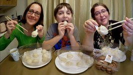 Soup Dumplings And Chocolate Cookies / Gay Family Mukbang - Eating Show