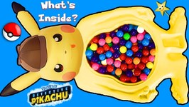 What's Inside DETECTIVE PIKACHU'S Candy Belly Game? Surprise Toys, Candy  Pokeballs