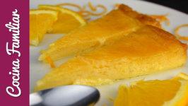 Flan de naranja con caramelo casero paso a paso