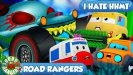 I Hate Haunted House Monster Trucks - Road Rangers Cartoons - Ep 41