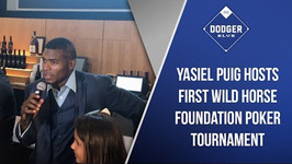 Yasiel Puig Hosts First Wild Horse Foundation Poker Tournament