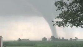 Tornado Sweeps Through Cass County, Indiana