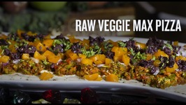 Raw Veggie Max Pizza With Cashew Cheese