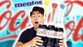 DIET COKE MENTOS BALLOON EXPERIMENT - Explosion
