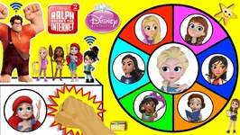 DISNEY PRINCESS Spinning Wheel Game RALPH BREAKS THE INTERNET w/ Surprise Toys