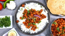Chole Chana Tikka Masala Complete Meal With Steamed Rice And Puff Puris
