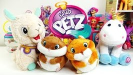 Club Petz Funny Pets Spitzy the Llama Puffy Unicorn and Bim Bim and Bam Bam