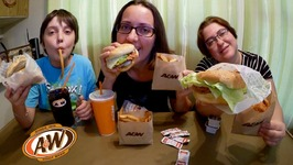 A And W Habanero Chicken Burger, Teen Burger And Root Beer / Gay Family Mukbang - Eating Show