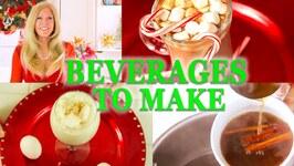 Holiday Drinks 2020 / 8 Christmas Drinks to Make at Home / Eggnog / Hot Chocolate And More