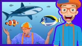 At an Aquarium with Blippi - Fish for Kids