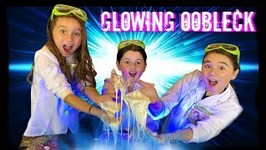 GLOWING OOBLECK SLIME Science Experiment!