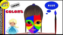 Face Painting With Finger Family Song For Kids - Learn Colors With Face Painting For Children