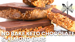 No Bake Keto Chocolate And Almond Bars / The Best Keto Snack