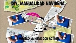 MANUALIDADES: MUÑECO DE NIEVE CON ACTIMEL
