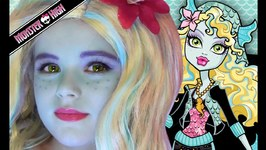 Lagoona Blue Monster High Doll Costume Makeup Tutorial for Halloween
