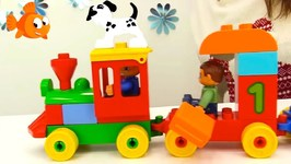 Counting Choo-Choo Trains - Kids Lego Toy Trains For Children - Train Videos For kids