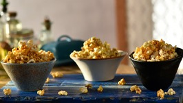 Popcorn 3 Ways-How To Make Popcorn,Salted,Caramel-Sweet & Spicy-Healthy Snack Recipe