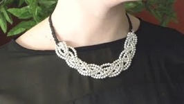 DIY: SILVER BRAIDED NECKLACE