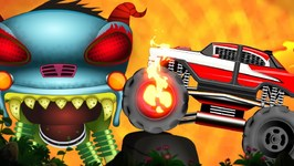 Monster Fire Truck - Haunted House Monster Truck - Car Cartoon Videos For Babies by Kids Channel