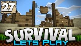 TOWN WALL & WATER TOWER - Survival Let's Play Ep. 27 - Minecraft 1.2 - PE W10 XB1