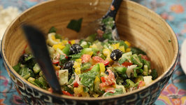 Greek Salad - Horiatiki Salata - My Recipe Book By Tarika Singh