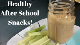 Healthy and Easy After School Snack Idea: Peanut Butter Hummus