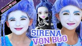 Monster High Sirena Von Boo Makeup Tutorial