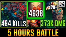 5 Hours EPIC Game - 494 KILLS, 20 Rapiers-  Dota 2